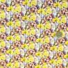 100% Cotton Digital Fabric Buttercups & Lilacs Floral Flower Garden 140cm Wide
