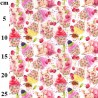 100% Cotton Fabric John Louden Ballet Pigs Cupcakes Cherries Animals Food