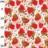 100% Cotton Fabric John Louden Bears With Hearts Roses Love Valentines Romance