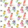 100% Cotton Fabric John Louden Garden Flower Fairy Fairies Fantasy Magic Floral