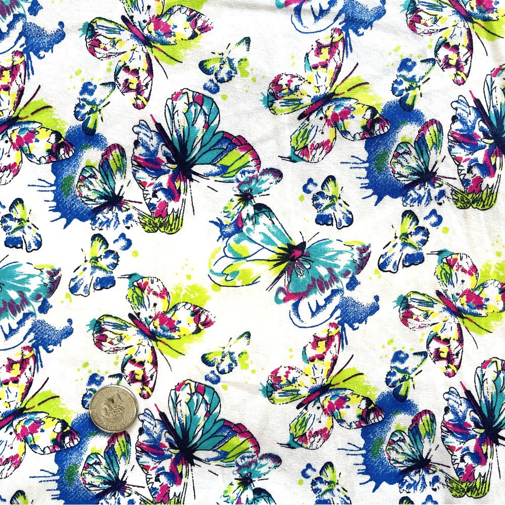 100% Cotton Fabric Vibrant...
