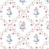 100% Cotton Fabric Alice In Wonderland Alice Floral Flowers Children Kids
