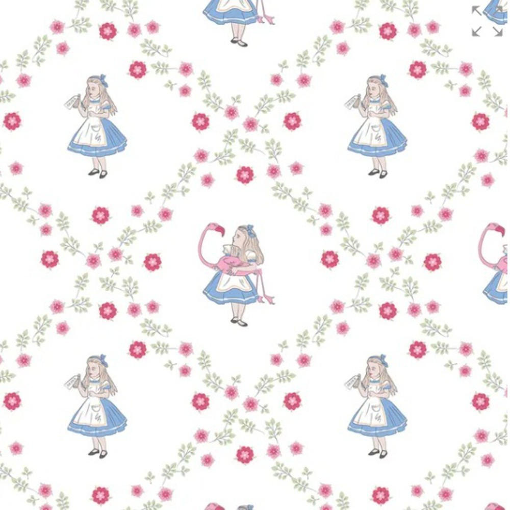 100% Cotton Fabric Alice In...