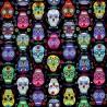 100% Cotton Fabric Timeless Treasures Halloween Sugar Skulls Day of the Dead