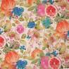 Cotton Rich Linen Look Fabric Digital Fruitful Natural Fruit Upholstery