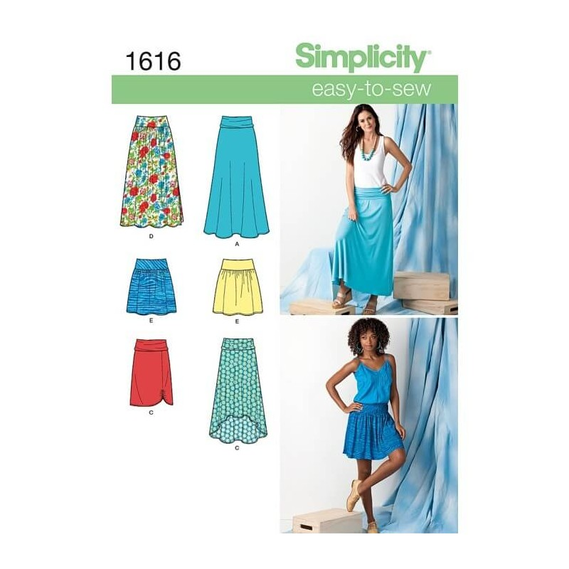 Sizes 14-22 Simplicity 1370 Womens Vintage Shorts and Skirt Sewing Patterns Skorts