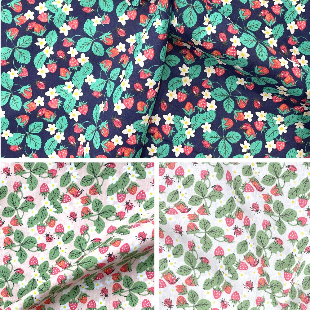 Polycotton Fabric Ladybirds...