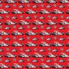 100% Cotton Digital Fabric Oh Sew Formula 1 Red Racing Cars Flags 140cm Wide