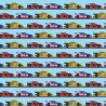 100% Cotton Digital Fabric Oh Sew Sports Rally Racing Cars 140cm Wide