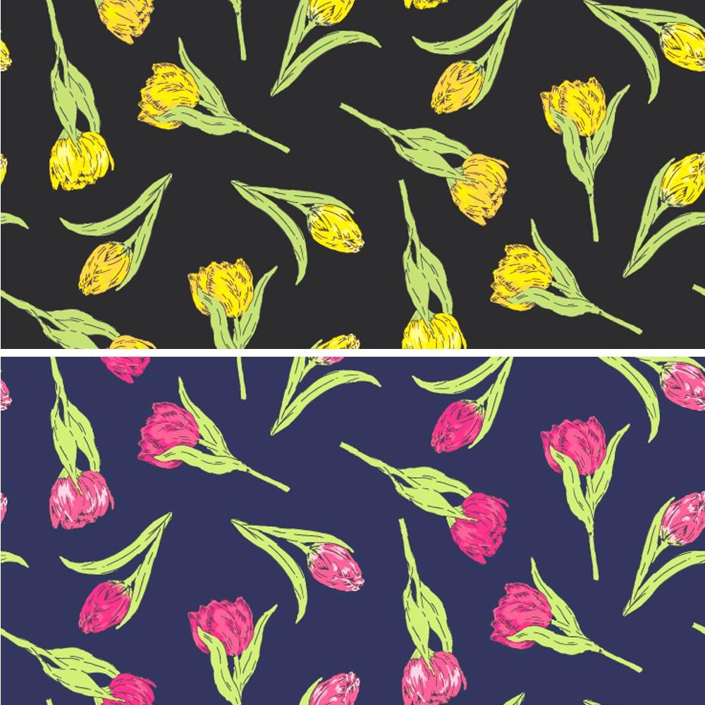 Polycotton Fabric Tulips...