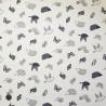 100% Cotton Fabric Nutex Enchanted Garden Creatures Hedgehog Butterfly Bird