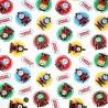 100% Cotton Fabric Thomas & Friends Classic Trains Circle Vehicles Kids Children