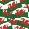 100% Cotton Fabric Nutex Welsh Flags Wales Patriotic United Kingdom Dragon