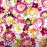 100% Cotton Poplin Fabric Flowers Floral Blooming Poulton Avenue 145cm Wide