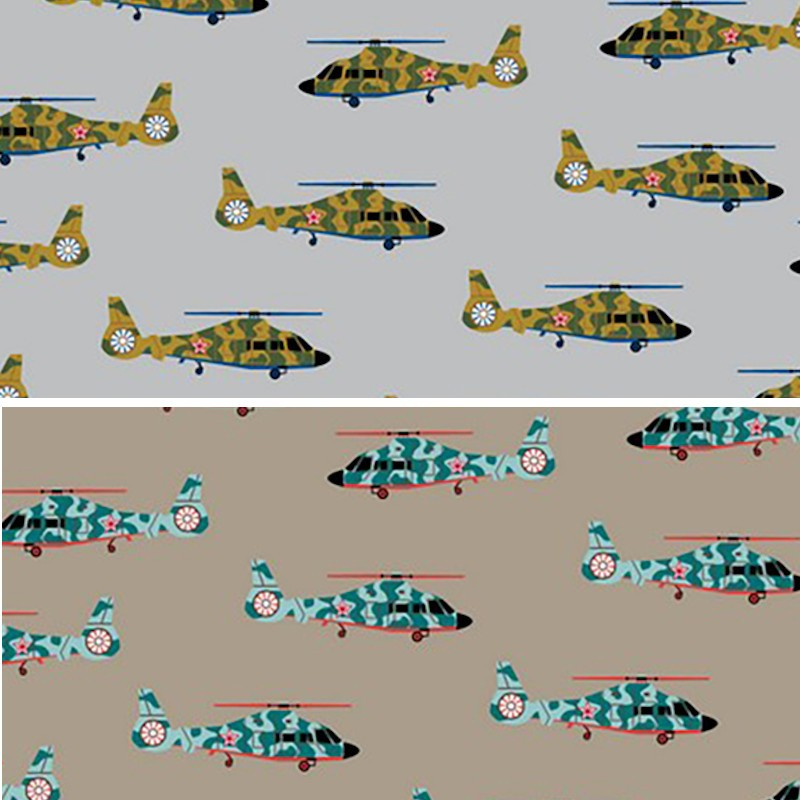 Cotton Jersey Fabric Army...
