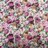 100% Cotton Poplin Fabric Flowers Floral Leaves Rowan Gardens 145cm Wide