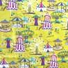 100% Cotton Fabric Inprint Funfair Fair Circus Carnival Rides Carousel