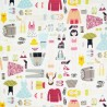100% Cotton Fabric Timeless Treasures Dress It Up Dolls Clothes Accessories