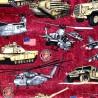 100% Cotton Fabric RJR Fabrics USA Military America Army Marines Tanks Harrier