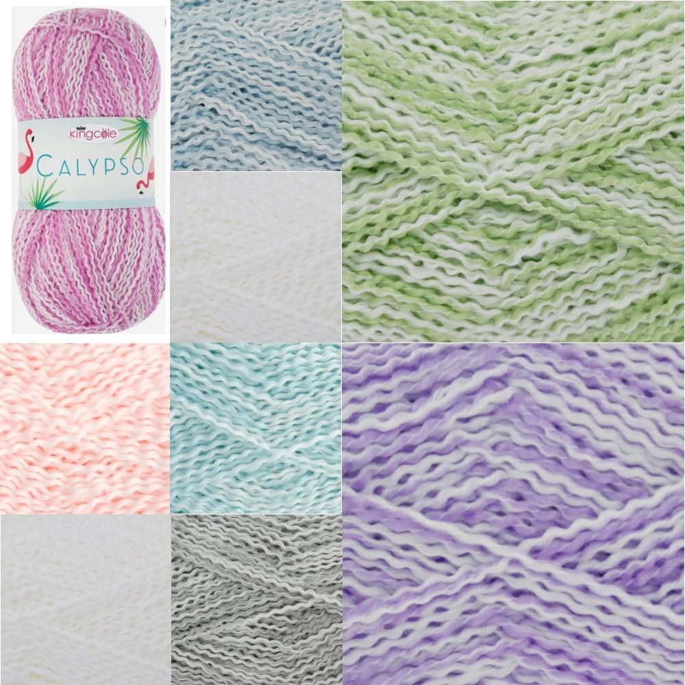 Spearmint King Cole Calypso DK Knitting Yarn 100g Acrylic Crimped Wool
