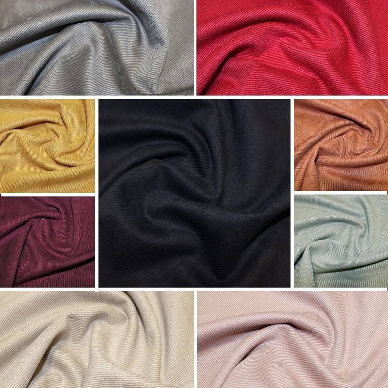 Suede Twill Fabric Plain...