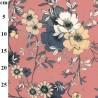 100% Cotton Digital Lawn Fabric Arbutus Street Flowers 145cm Wide