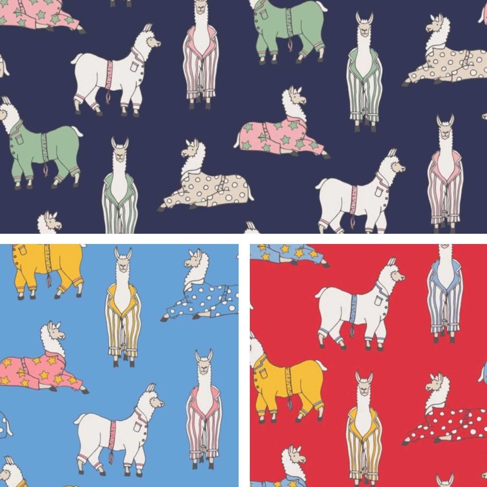 Polycotton Fabric Llamas In...