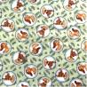 100% Cotton Fabric Springs Creative Disney Bambi Circles Deer Animal Childrens