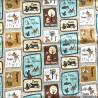 100% Cotton Fabric Springs Creative Disney Bambi & Friends Patch Thumper Flower