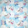 100% Cotton Fabric Springs Creative Disney Frozen Christmas Olaf Snowman Festive