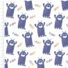 100% Cotton Fabric Cutest Little Monster Roar Virus Germ