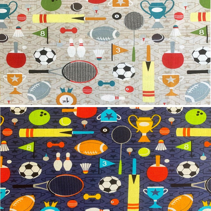 100% Cotton Fabric Sports...