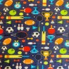 100% Cotton Fabric Sports Day Football Cricket Tennis Rugby