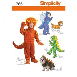 Simplicity Child's and Dog Costumes Fabric Sewing Patterns 1765