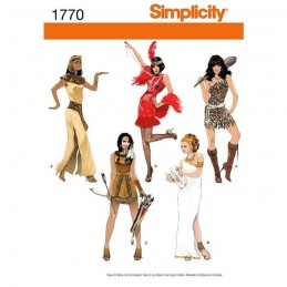 Misses' Costumes Simplicity Sewing Pattern 1770