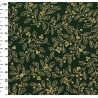 100% Cotton Fabric Rose & Hubble Christmas Gold Holly Berries 135cm Wide