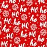 Polycotton Fabric Christmas Santa Ho Ho Snowflakes Festive Xmas