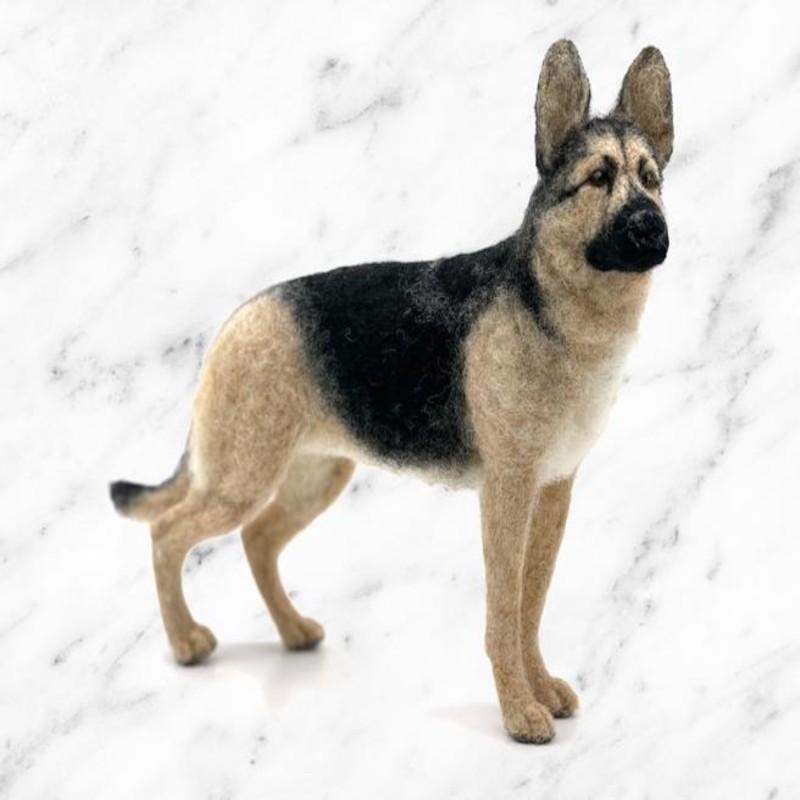 Georgi German Shepherd Dog Wool Needle Felting Kit World of Wool