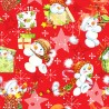 100% Cotton Fabric Digital Christmas Baby Snowman Presents Snowflakes 150cm Wide