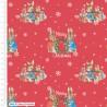 100% Cotton Digital Fabric Beatrix Potter Peter Rabbit Merry Christmas