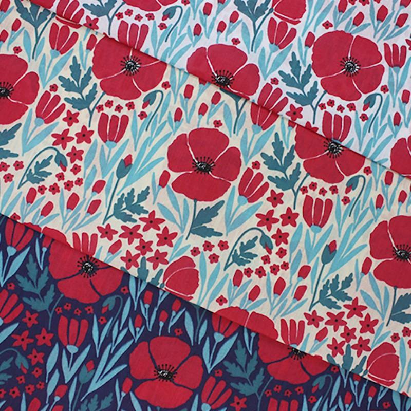 Polycotton Fabric Floral...