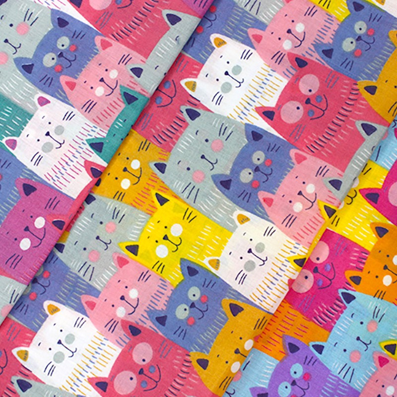 Polycotton Fabric Cute...