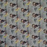 100% Cotton Fabric Digital Harry Potter Quidditch Broomstick Wizard 140cm Wide