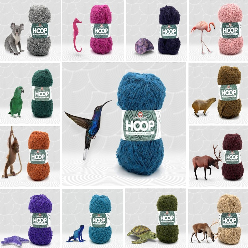 World of wool hoop mohair boucle yarn hummingbird