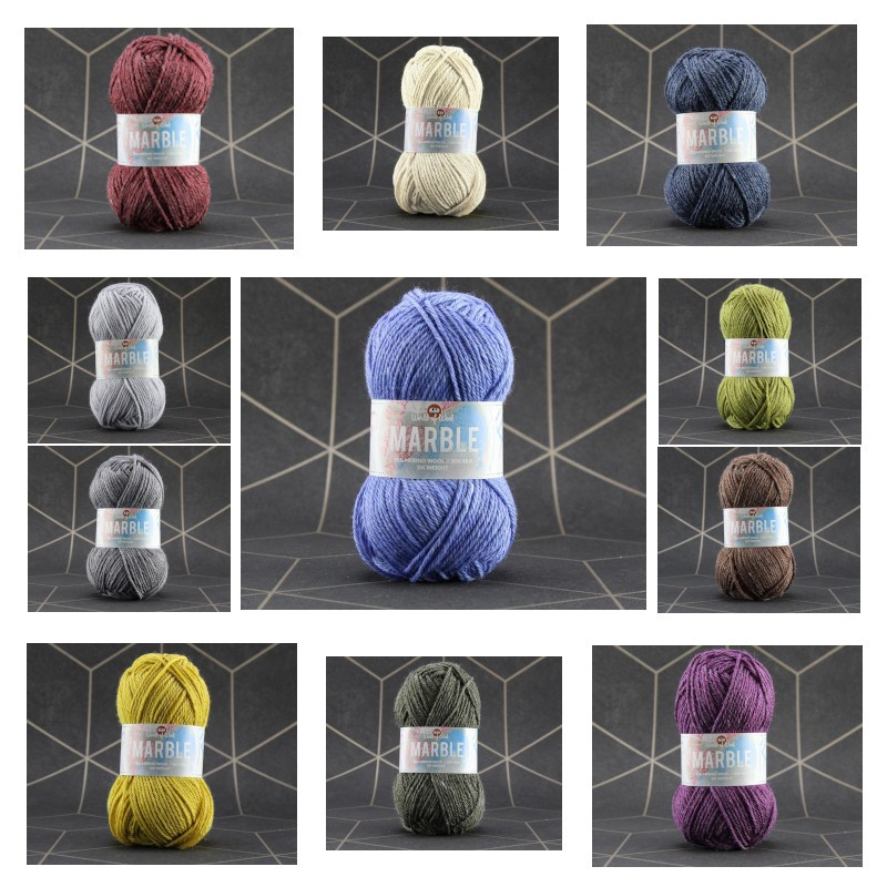 world of wool marble dk white shadow