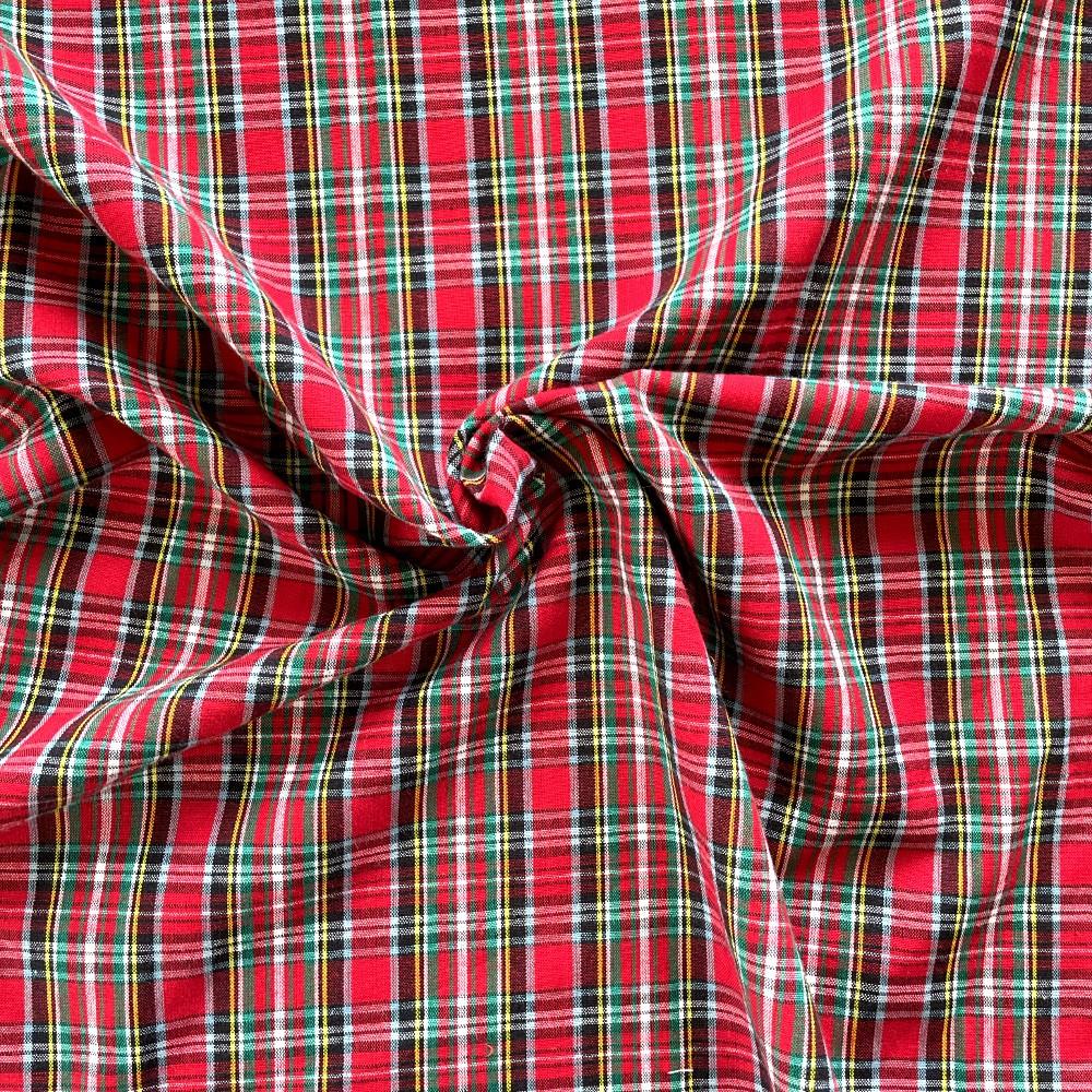 100% Cotton Fabric Tartan...