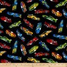 100% Cotton Fabric Timeless Treasures Sports Cars Racing Sport Car Vehicle