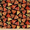 100% Cotton Fabric Timeless Treasures Pizza Slices Fast Food Take Out