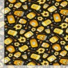 100% Cotton Fabric Timeless Treasures Bumble Bees Honey Sunflower Animal Flowers