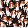 100% Cotton Fabric Timeless Treasures Cavalier King Charles Spaniels Dog Animal
